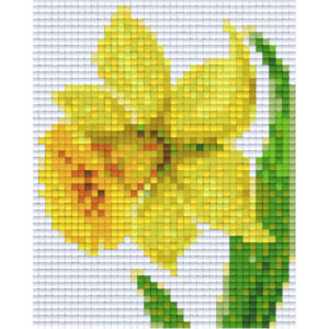 Pixel Vorlage Narzisse