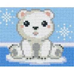 Gratis Vorlage Pixeln Eisbär