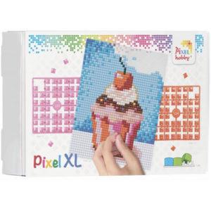 XL Pixel Bild Cupcake