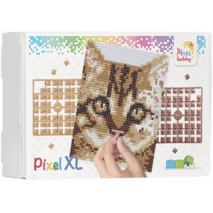 XL Pixel Bild Katze