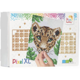 XL Pixel Bild Leopard
