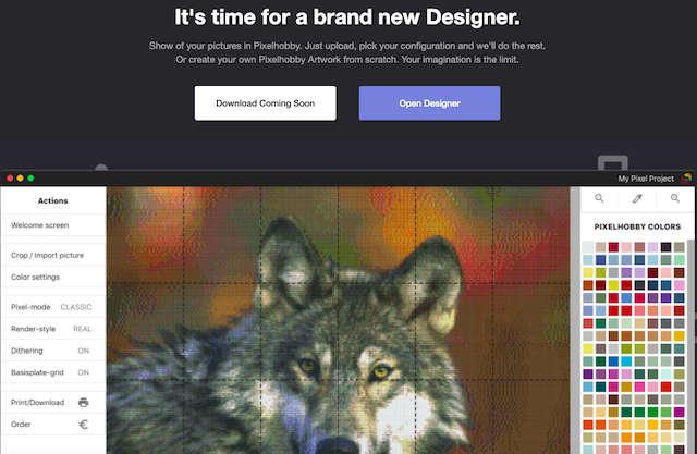 Pixelhobby Designer Software