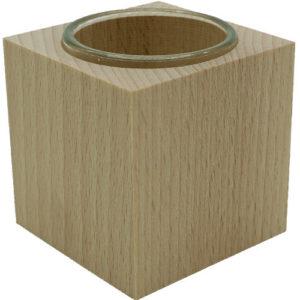 Teelichthalter mit aus Holz