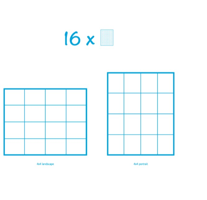 Pixelhobby Bild mit 16 Platten