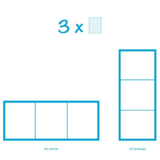 Pixelhobby Bild mit 3 Platten