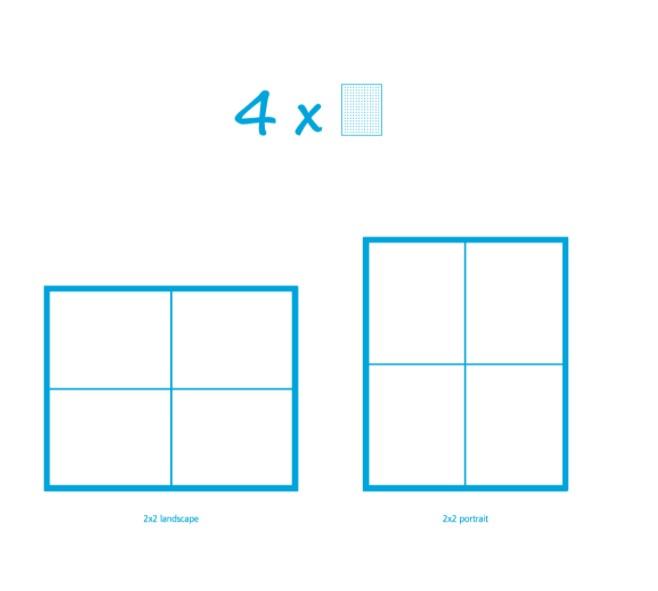 Pixelhobby Bild mit 4 Platten
