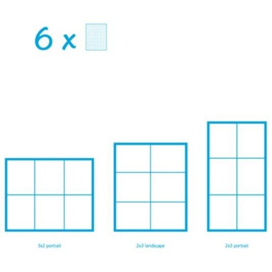 Pixelhobby Bild mit 6 Platten