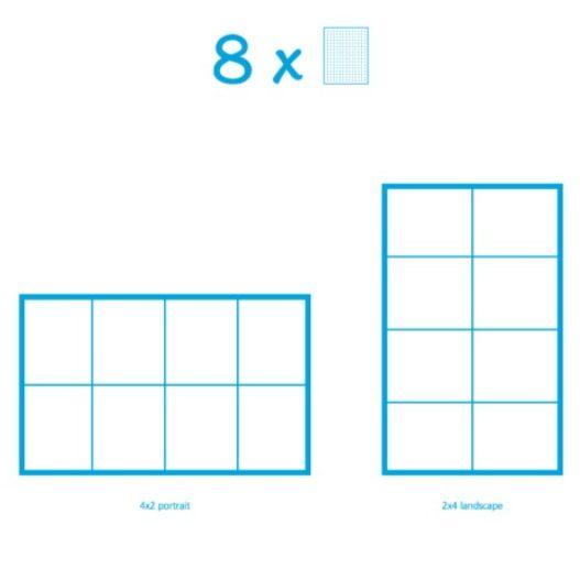 Pixelhobby Bild mit 8 Platten