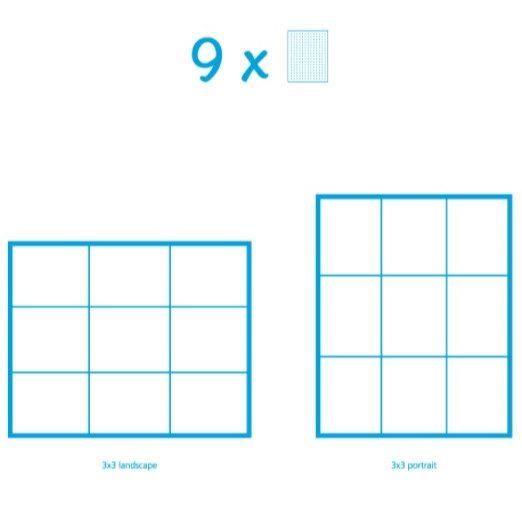 Pixelhobby Bild mit 9 Platten