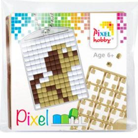 Pixel Schlüsselanhänger Hund