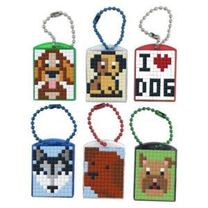 Pixel Schlüsselanhänger Geschenkset Hunde