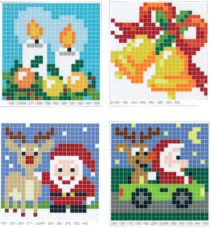 Pixel Vorlagen 6x6 Weihnachten