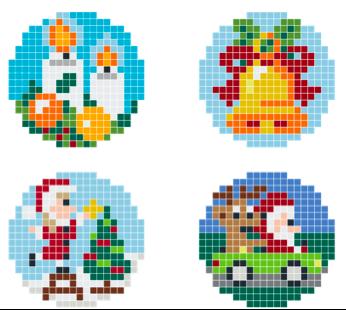 Pixel Hobby Christbaum Anhänger