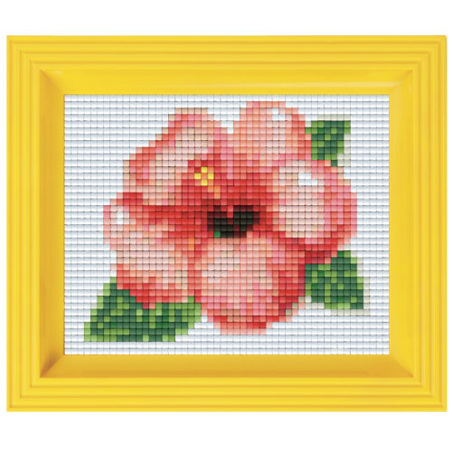 Pixel Geschenkset im Rahmen Blüte