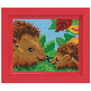 Pixel Geschenkset im Rahmen Igel