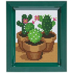 Pixel Geschenkset im Rahmen Kaktus