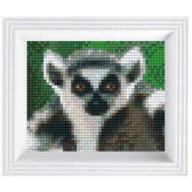 Pixel Geschenkset im Rahmen Lemur