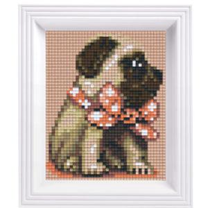 Pixel Geschenkset im Rahmen Mops girl