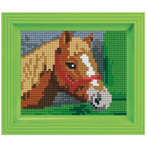 Pixel Geschenkset im Rahmen Pferd