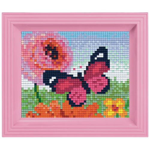 Pixel Geschenkset im Rahmen Schmetterling Pink