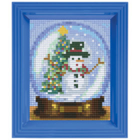 Pixel Geschenkset im Rahmen Winterkugel
