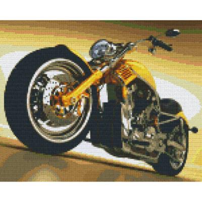 Pixelbild Vorlage Motorrad