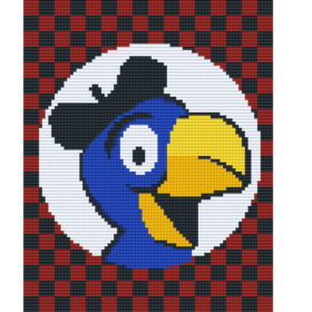 Pixel Vorlage 4 Platten