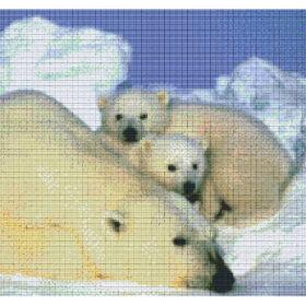 Pixelvorlage 12 Platten Eisbären