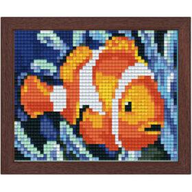 Pixel Bild im Holzrahmen Nemo