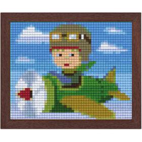 Pixel Bild im Holzrahmen Pilot