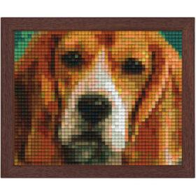 Pixel Bild im Holzrahmen