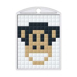 Pixelhobby Schlüsselanhänger Set Affe