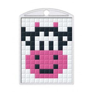 Pixelhobby Schlüsselanhänger Set Kuh