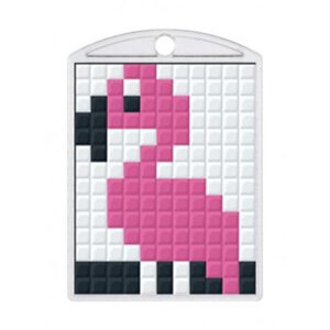 Pixelhobby Schlüsselanhänger Set Flamingo