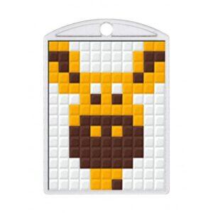 Pixelhobby Schlüsselanhänger Set Giraffe