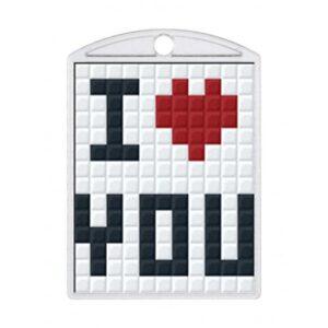 Pixelhobby Schlüsselanhänger Set Love you
