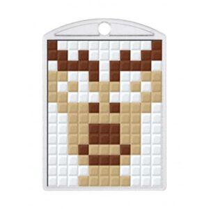 Pixelhobby Schlüsselanhänger Set Elch