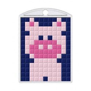 Pixelhobby Schlüsselanhänger Set Schwein