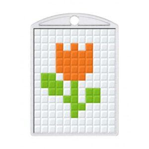 Pixelhobby Schlüsselanhänger Set Tulpe